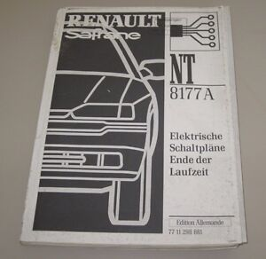 Auto & Verkehr Werkstatthandbuch Renault Safrane Elektrische Schaltpläne Elektrik Stand 2000!