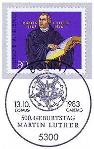 Rfa 1983: Martin Luther Nº 1193 Avec Le Bonner Ersttags-cachet Spécial! 1 A! 1710-rstempel! 1a! 1710fr-fr Afficher Le Titre D'origine éConomisez 50-70%