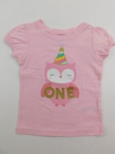 Details About Carters Just One You Girls Pink 1 Year Old 1st Birthday Shirt 12 Months NWT