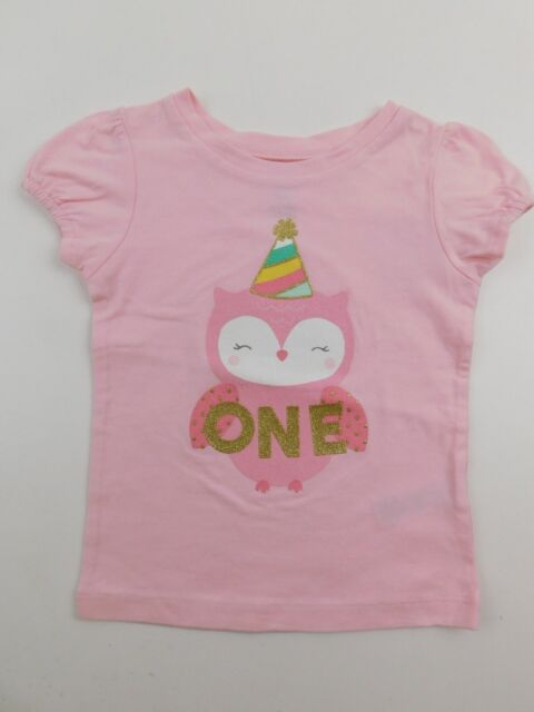 Carters Just One You Girls Pink 1 Year Old 1st Birthday Shirt 12 Months NWT