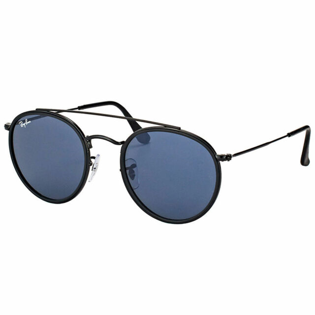 2f742e836 Sunglasses Ray Ban Limited round Double Bridge Black Gray RB3647N 002/R5