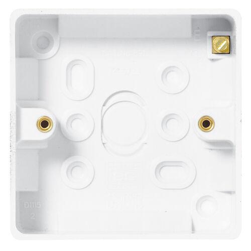 Slimline Surface Box 1 Gang 19mm Pattress BG Nexus 893