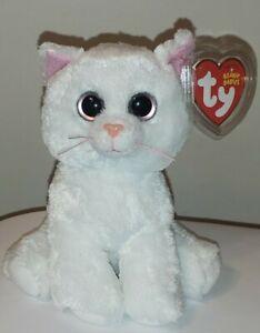 Ty Beanie Baby - BIANCA the White Cat (7 Inch)(Big Eyes Version) NEW MWMT