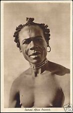East African Native Male Necklace, Facial SCARIFICATION