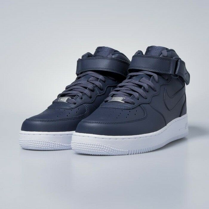 Hommes Nike Air Force Mid 1 '07 Mid Force Obsidian/blanc 27c487