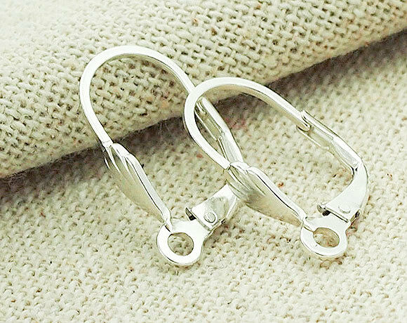 925 Sterling Silver 3 pairs Lever Back Earrings 9x18 mm.