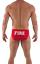Fire Dept Mens Red Swim Brief S,M,L Smokin/' Hot Fireman Uniform Lycra Spandex