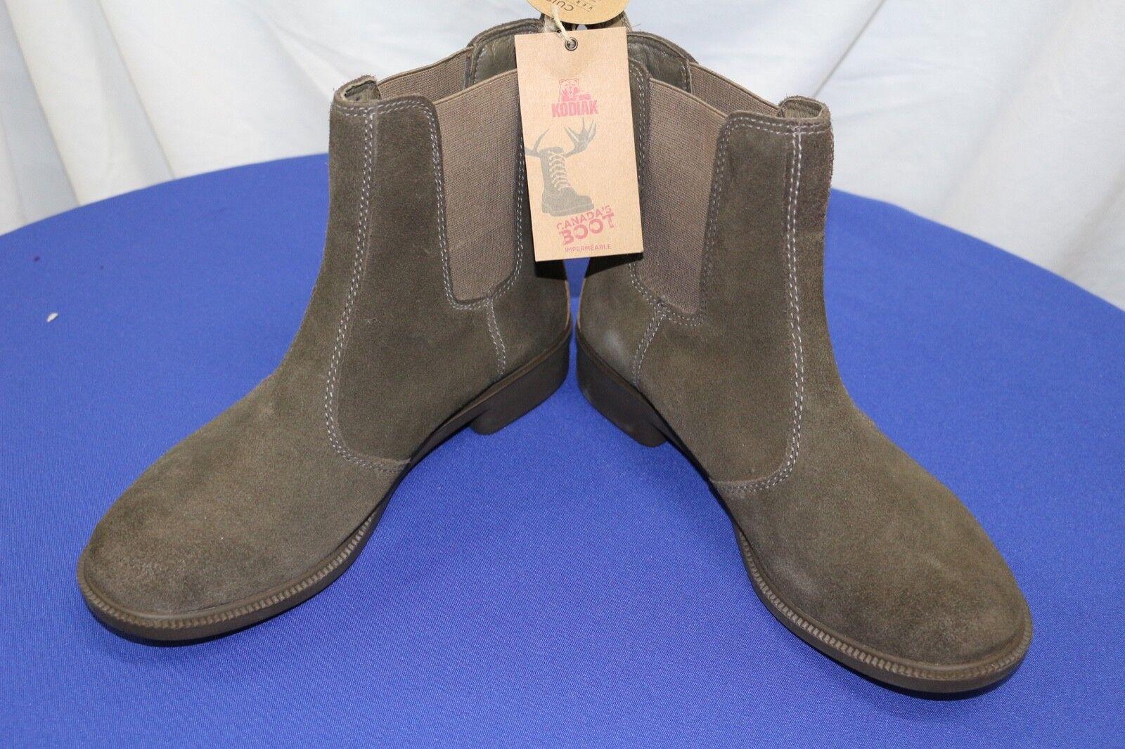 NIB Kodiak Women's Bria Olive Suede Chelsea Boots Size 10