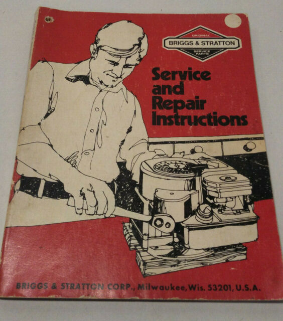 Briggs U0026 Stratton Service And Repair Instructions 1983 Manual Guide