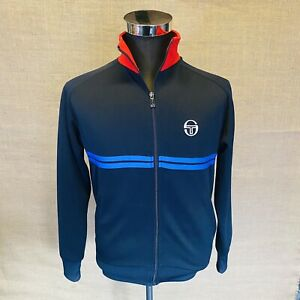 Sergio-Tacchini-Tracksuit-Top-Small-S-Blue-Red-Casuals-60-039-s-Mod-See-Pictures