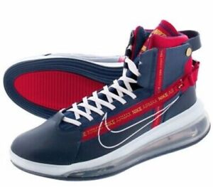 Nike-Air-Max-720-Men-039-s-Sneakers-Size-10-Navy-White-Red-AO2110-400-no-box