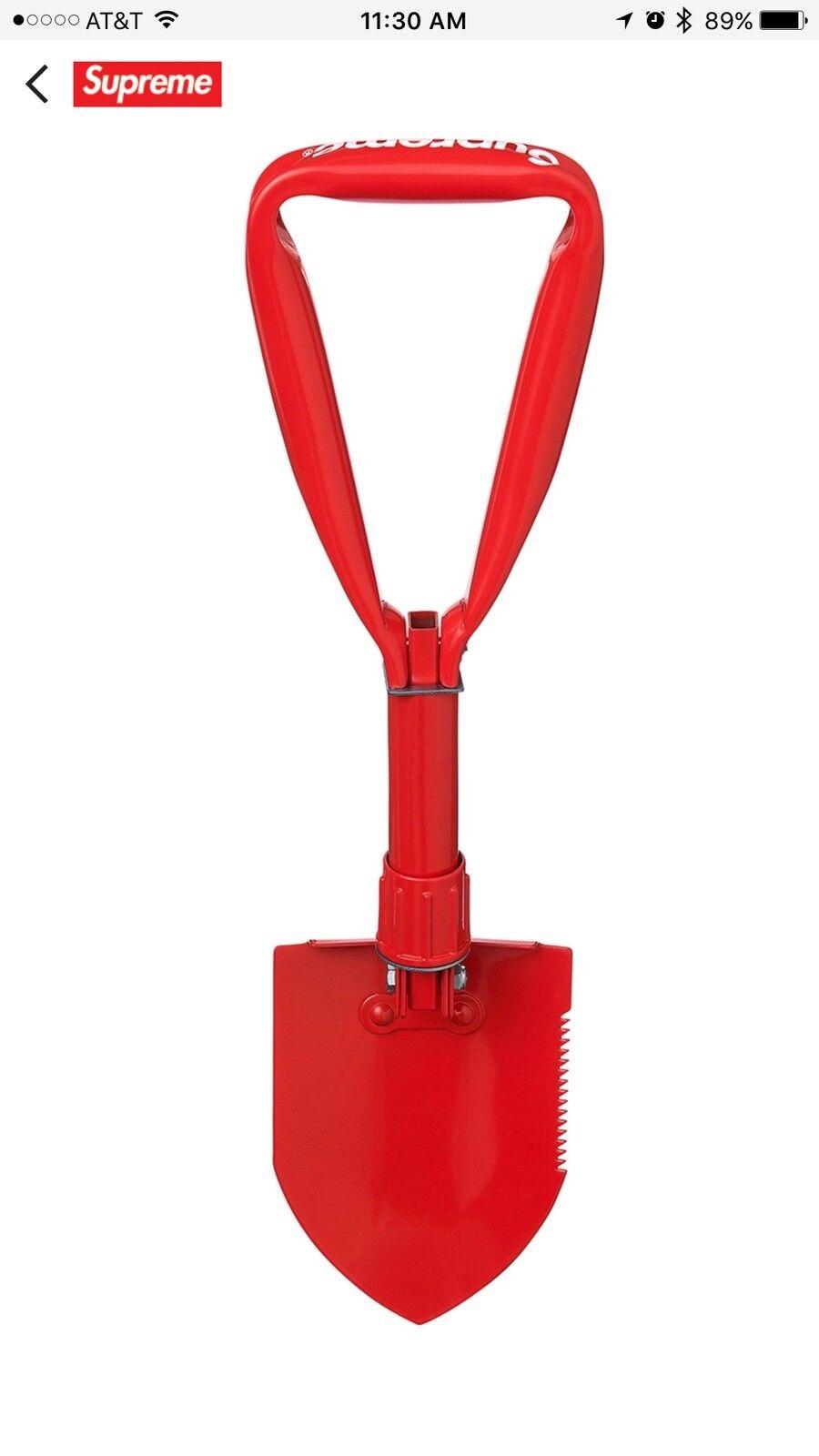 Supreme SOG Collapsible Shovel Red Box Logo FW17 Fall Winter 2017 Nas Tee