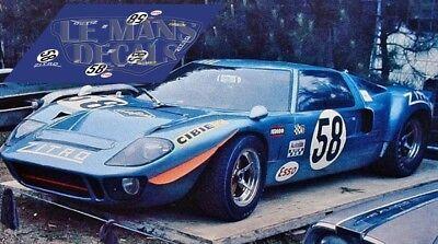 Calcas Ford GT40 Le Mans Test 1965 1:32 1:24 1:43 1:18 64 87 slot decals