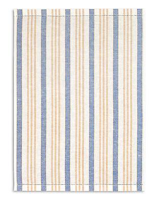 Kracht Geschirrtuch, Hohlsaum Gläsertuch, Halbleinen, blau, 50x70 cm