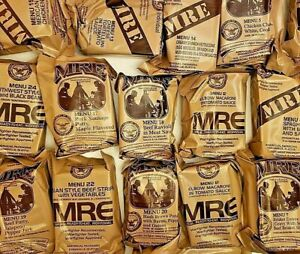Military MREs Ready to Eat Food Camping Survival Lot of 6 Different Meals Menus