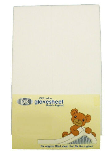DK Glovesheets OFF CUTS Fitted Sheets to Fit Next to Me Bedside Crib In White