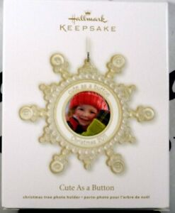 2011 Hallmark Cute As A Button Picture Christmas Tree ...