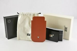 NEW-MONTBLANC-Copper-Orange-LEATHER-CASE-POUCH-IPHONE-5-5SE-110438-AUTHENTIC