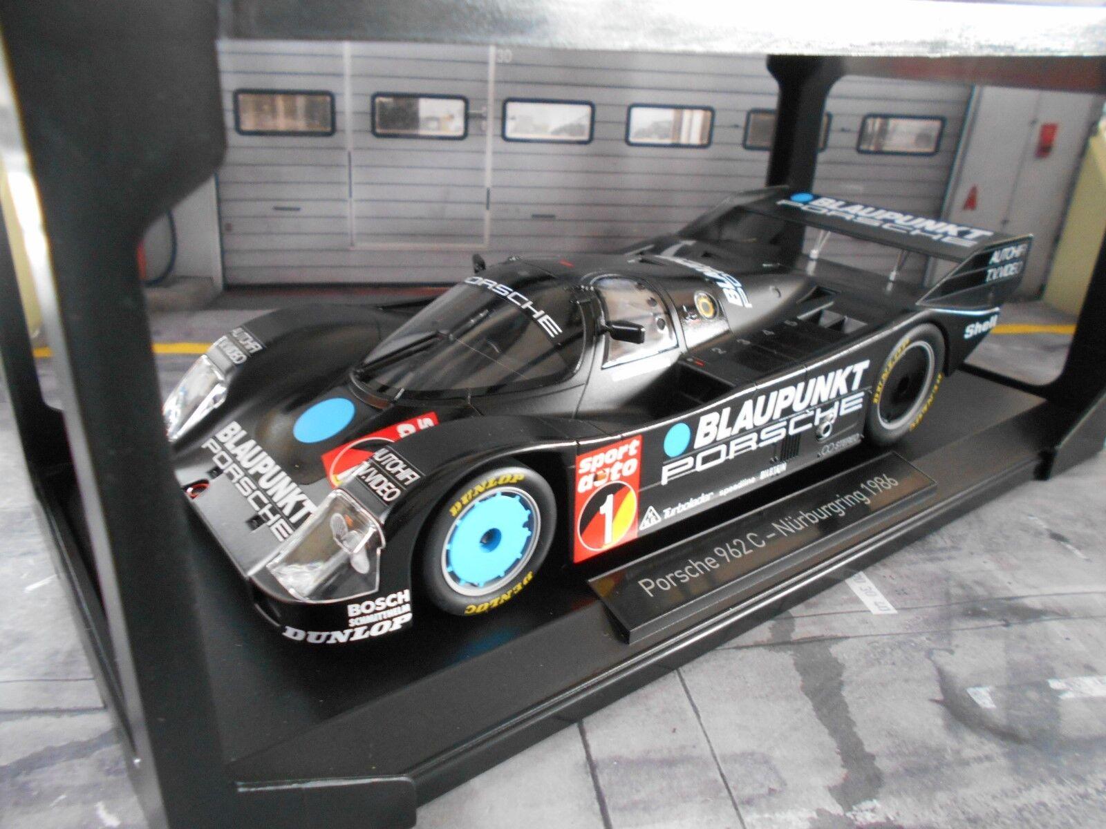 Porsche 962 962 C 956 II Super Sprint Nurburgring bleupunkt stuc  1 NOREV 1 18