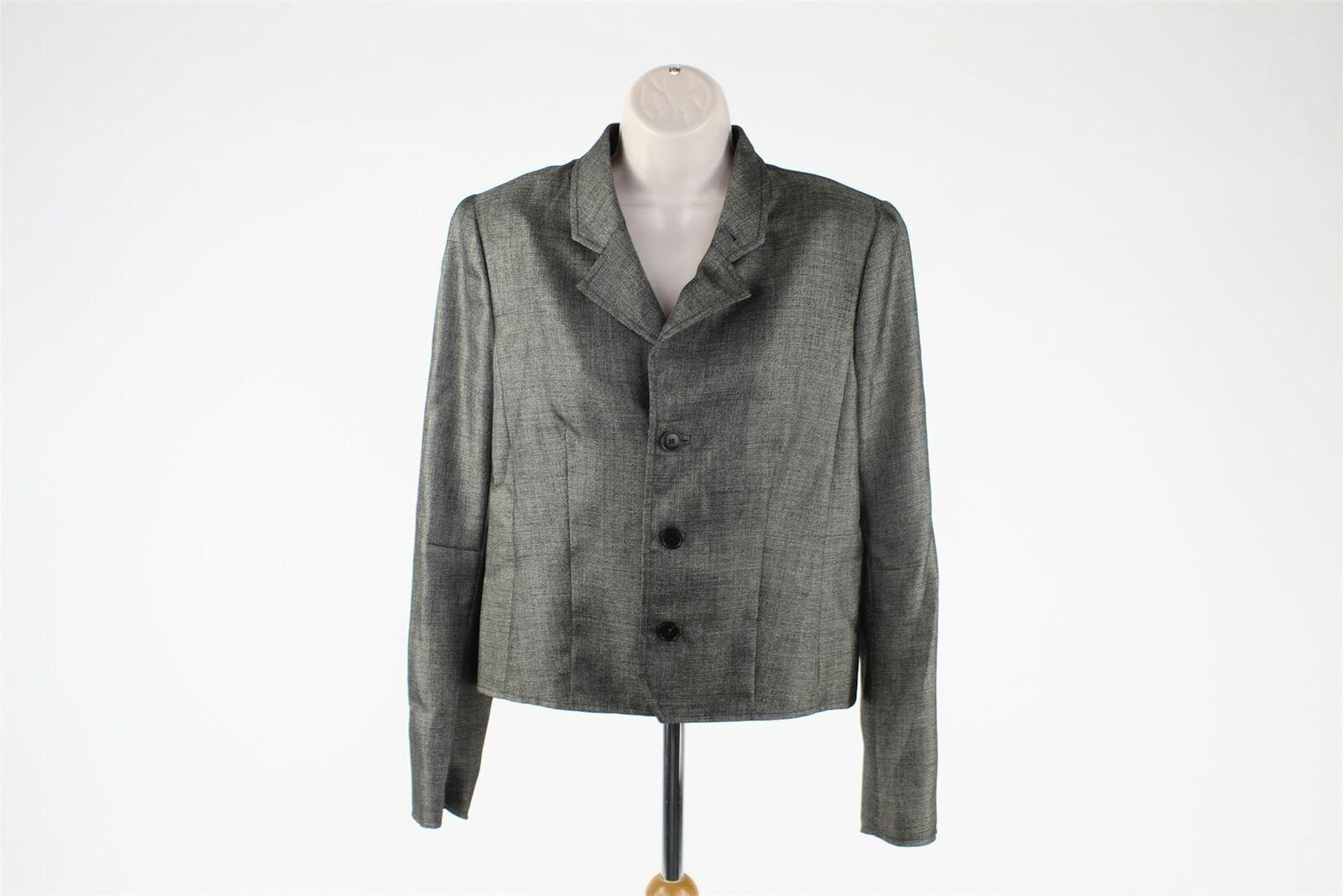 BALENCIAGA grau Wool Blend Blazer, UK 14 US 10 EU 42