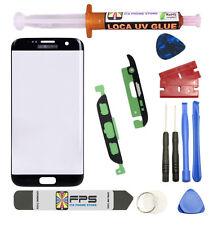 Samsung Galaxy S7 Edge OEM G935 Black Glass Lens Screen Replacement Loca UV Glue