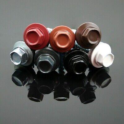 50, kupferbraun - RAL 8004 Trapezblechschrauben 4,8 x 55 mm selbstbohrend mit Dichtscheibe verschiedene Farben