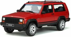 OTTO-MOBILE-738-JEEP-CHEROKEE-2-5-EFI-resin-model-Flame-red-Ltd-Ed-1995-1-18th