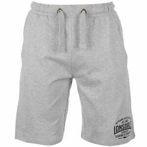 13f1fbdced Image is loading Lonsdale-Lightweight-Sweat-Shorts-Mens-Grey-Sportswear- Short-