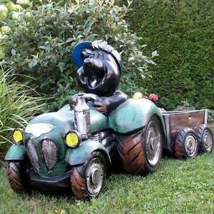 Maulwurf In Traktor Mit H Nger 99 Cm Garten Deko Figur