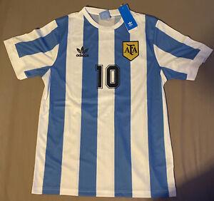 Maillot Argentine 1986 Taille L Maradona 10 Neuf Messi Dybala