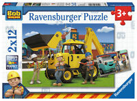 2 X 12 Teile Ravensburger Kinder Puzzle Bob Der Baumeister Und Sein Team 07604