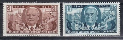 Ddr 1954 Postfrisch Minr 443-444 Wilhelm Pieck Deutschland