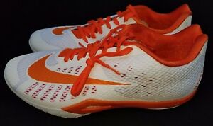 19799368a76 Mens Size 17.5 White Orange Nike Hyperlive TB Basketball Sneakers ...