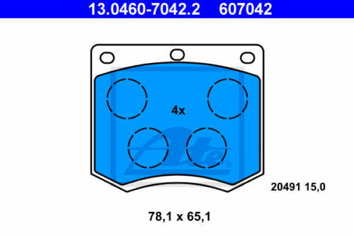 VA 13.0460-7042.2 für FORD CAPRI II ATE Bremsbelagsatz Vorderachse GECP