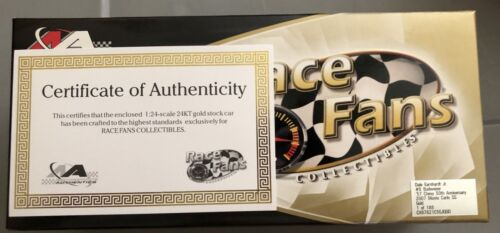 07 CHEVY MONTE CARLO EARNHARDT JR. BUDWEISER 57 CHEVY 50TH Anniv Gold 1 of 188