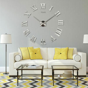 DIY-3D-Wall-Clock-Roman-Numerals-Large-Mirrors-Surface-Big-Art-Clock-Home-Decor