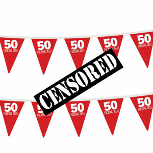 50th-Birthday-Party-Bunting-Decorations-Props-Decs-For-Men-amp-Women-Funny-Adult