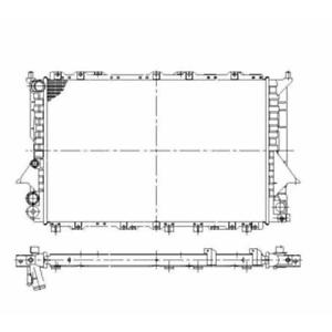 Radiador refrigeración del motor-nrf 58868