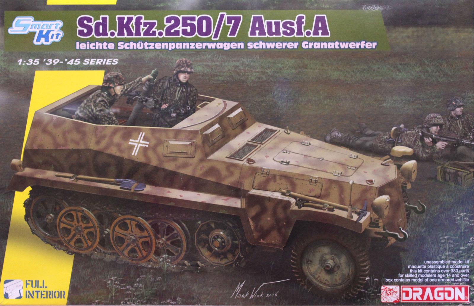 venta al por mayor barato Dragon Sd.Kfz.250 7 Ausf.a Ausf.a Ausf.a Coche Blindada Lanzagranadas 1  3 5 Kit Construcción  Tienda de moda y compras online.