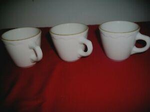 Vintage-Syracuse-China-Restaurant-Ware-Cups-ECONO-RIM-LOT-OF-THREE-EUC