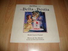 LA BELLA Y LA BESTIA DE WALT DISNEY LP DE VINILO VINYL ORIGINAL SOUNDTRACK