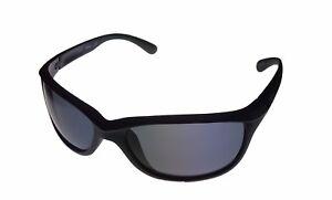 Timberland Mens Sunglass Matte Black Plastic Wrap, Solid Smoke Lens TB7117 2A