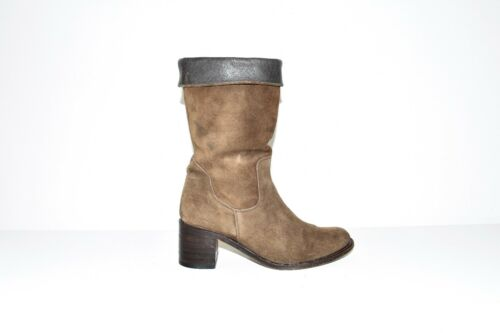 Calf Sendra Heel Slouch Brown Pixie All High Size Mid Women's Boots 38 Leather 5 wIBECTnxCq