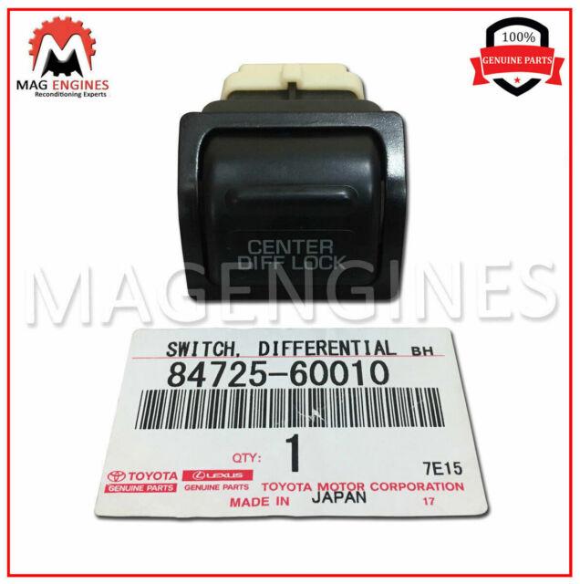 CENTER DIFFERENTIAL LOCK 84725-60010 8472560010 Genuine Toyota SWITCH