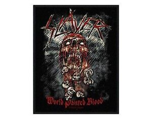 SLAYER-world-painted-blood-2009-WOVEN-SEW-ON-PATCH-official-merchandise