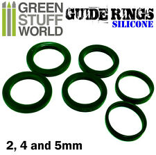 Silicone Guide Rings - even thickness of putty and clay - rolling pins - roller