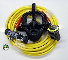BROWNIES Kayak Dive Kit with Regulator Rubber Full Face Mask 70' Long Hose Gauge