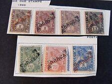 "ETIOPIA ,ETHIOPIA, Abissinia  1896 ""Menelik OVP"" 7 valori MH* on piece"