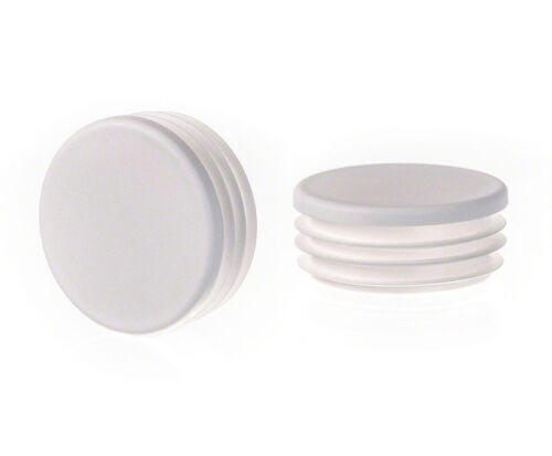 10 caps Round Plastic Blanking End Cap Caps Tube Pipe Inserts Plug