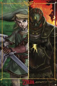 The-Legend-of-Zelda-Link-vs-Gannon-Video-Gaming-Poster-24x36